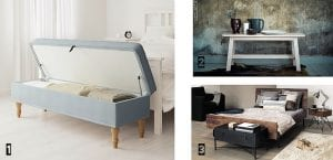 Muebles pie de cama