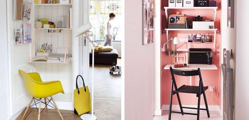 Oficinas pequeñas con color