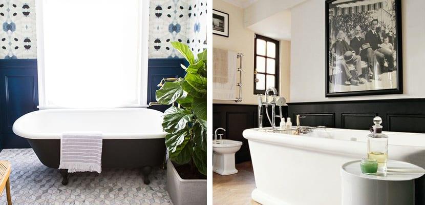 Paneles de madera en el baño
