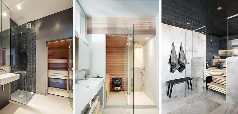 Sauna en el cuarto de baño