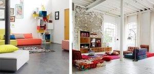 Sofá modular multicolor