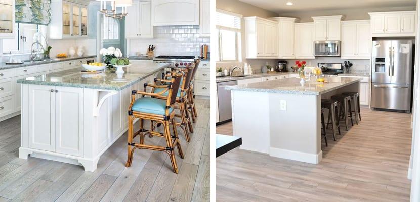 Ideas para el suelo de la cocina - Suelo madera cocina ...