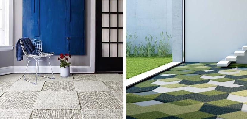 Suelos con alfombras geométricas