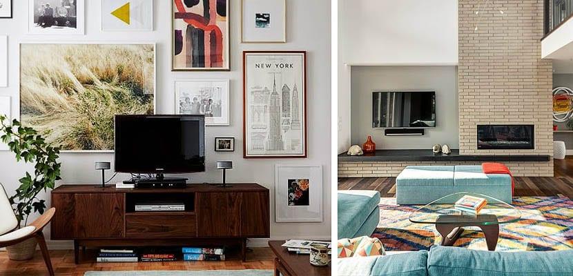 Diferentes formas para colocar la televisi n en tu sal n - Donde colocar tv en cocina ...