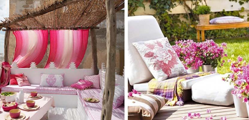 Terrazas en color rosa