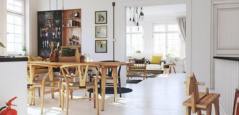Un apartamento con estilo n rdico marcado for Comedor escandinavo