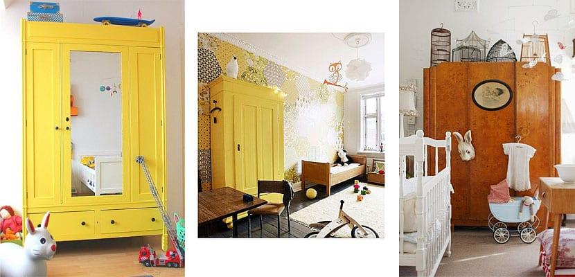 Ideas para destacar el armario en el dormitorio infantil for Armario habitacion infantil