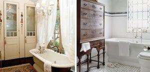 Baños en estilo vintage
