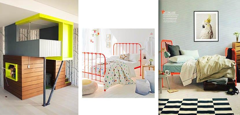 Camas neón en dormitorios infantiles