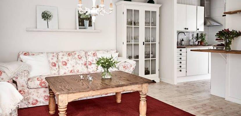 Sofá de estampado floral