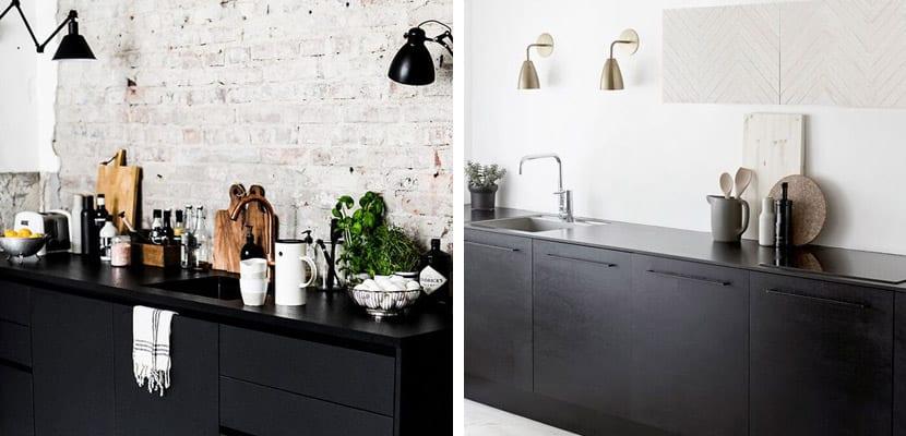 Cocinas con muebles negros