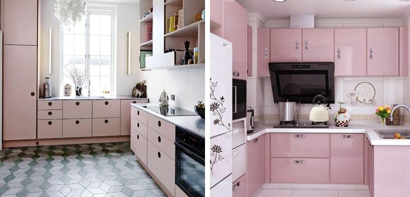 Muebles en rosa cuarzo