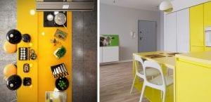 Cocinas en amarillo