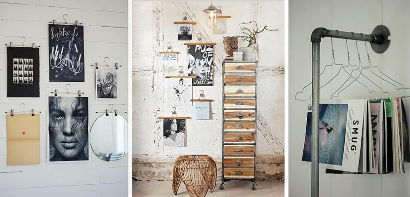 Las perchas como elemento decorativo en la pared - Perchas pared originales ...