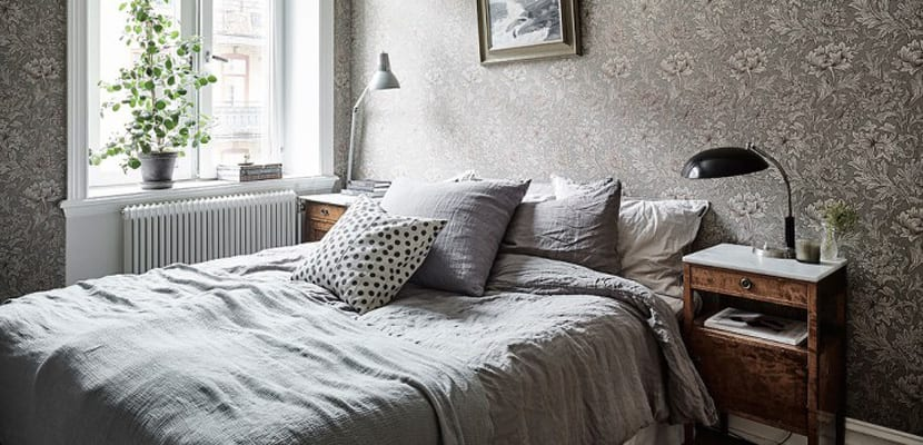 Textiles de cama en gris