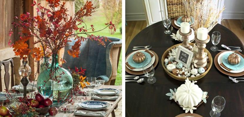 Decorar mesas de otoño
