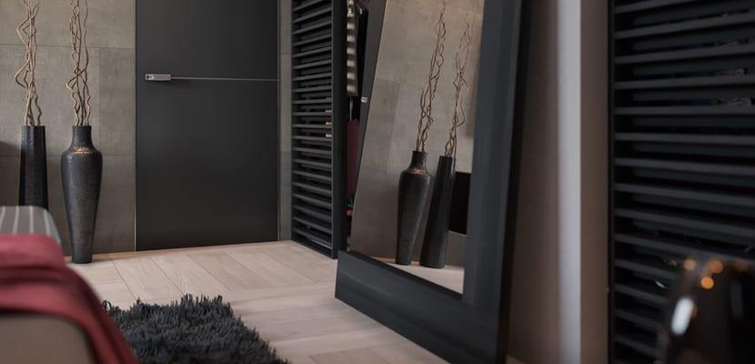 Dormitorio moderno en gris