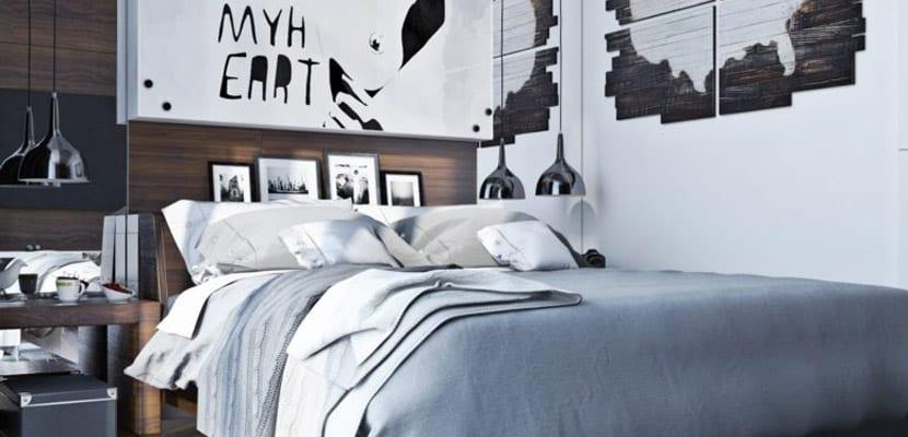 Dormitorio en color gris