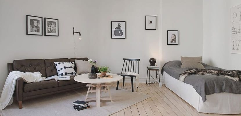 Salón con dormitorio