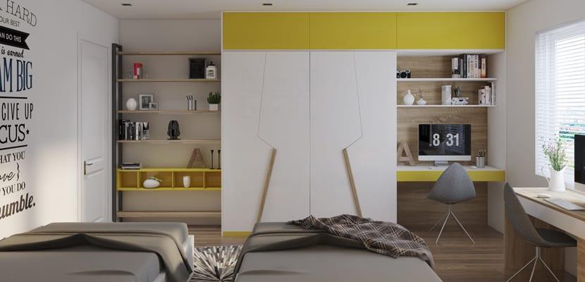 Habitación infantil en amarillo