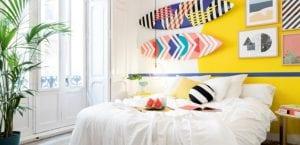 Habitación con colores
