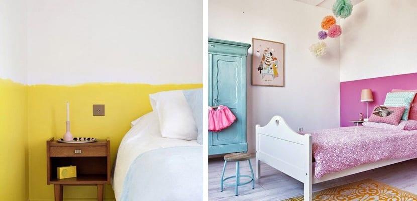 Paredes bicolor en el dormitorio