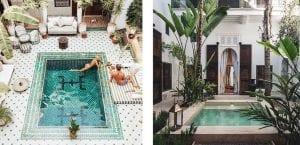 Patios de lujo con piscina
