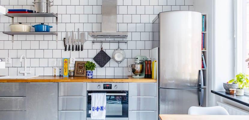Cocina en mini apartamento