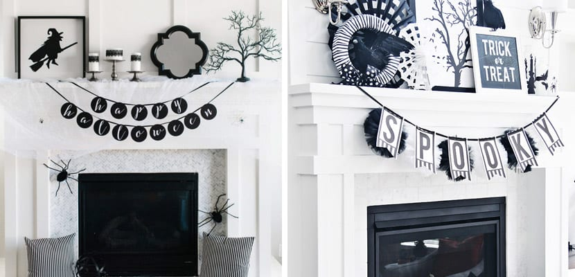 C mo decorar fiestas de halloween en blanco y negro - Decoracion blanco y negro ...