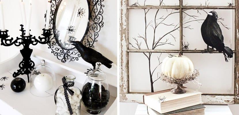 Cmo decorar fiestas de Halloween en blanco y negro