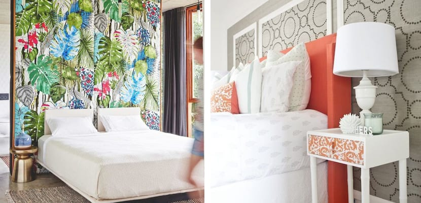 Decorar las paredes con telas - Telas para forrar cabecero cama ...