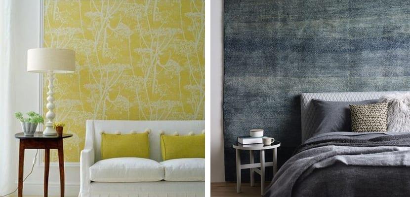 decorar las paredes con telas - Decorar Paredes
