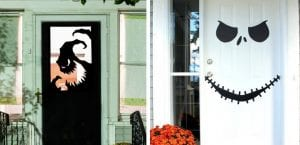 Decorar las puertas en Halloween