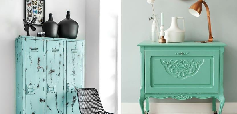 Muebles en verde menta