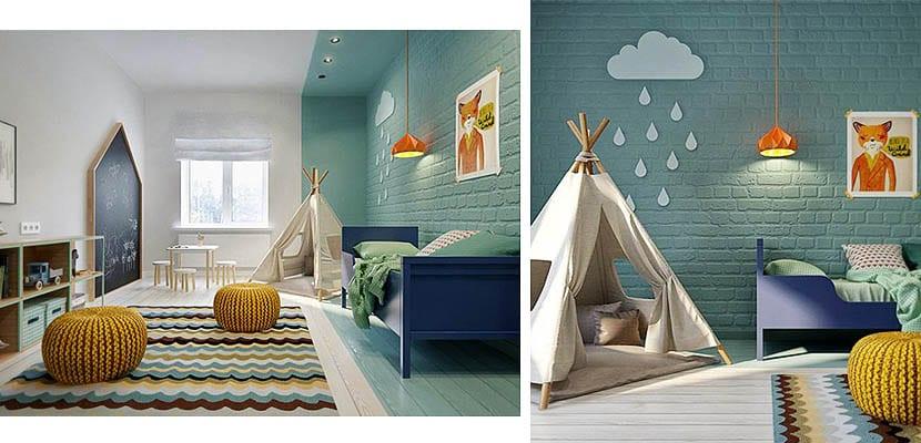 Dormitorio niños de acamapada