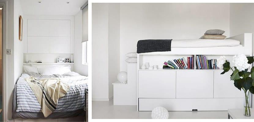 Ideas para amueblar un dormitorio muy peque o for Ideas para decorar dormitorios pequenos
