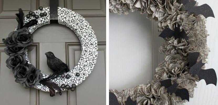 Guirnaldas en blanco y negro