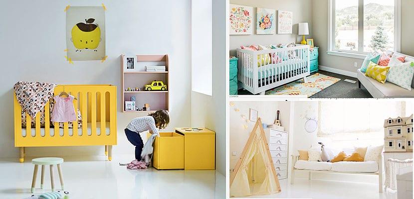 Habitaciones de bebe de color amarillo