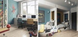 Habitaciones juveniles inspiradas en superheroes