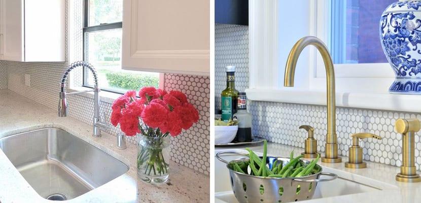 Mini azulejos en la cocina