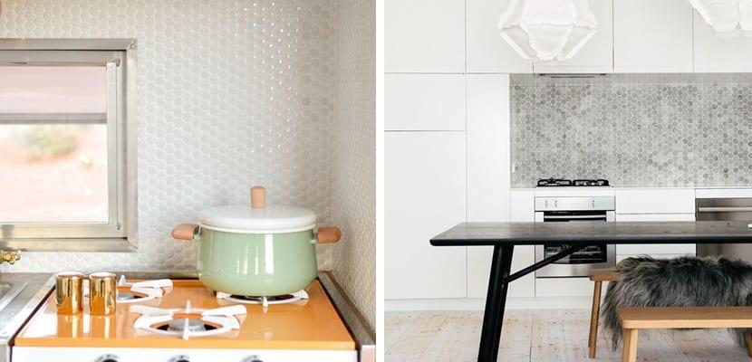 Mini azulejos para decorar la cocina for Azulejos para paredes interiores