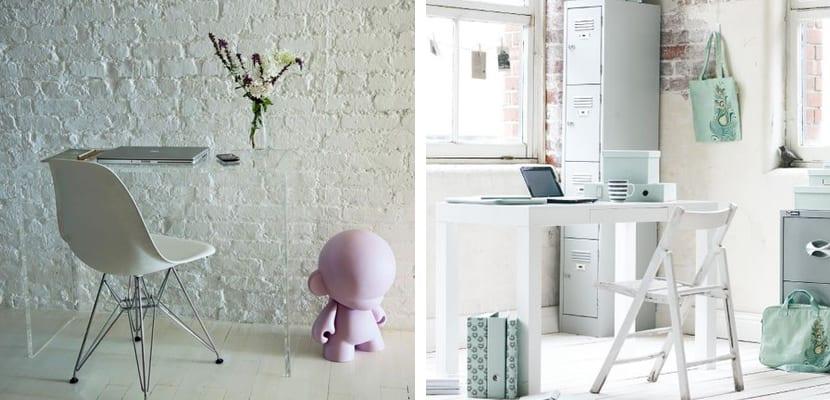 Oficina en color blanco