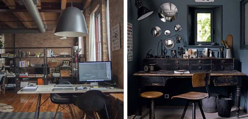 Oficinas en tonos oscuros