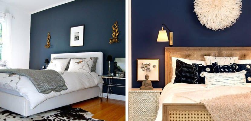 Paredes en tonos oscuros para el hogar - Colores azules para paredes ...
