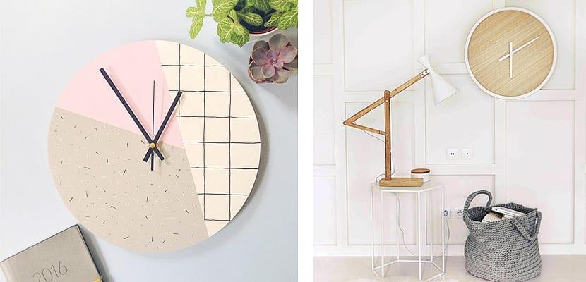 10 relojes de pared de dise o minimalista - Relojes para decorar paredes ...