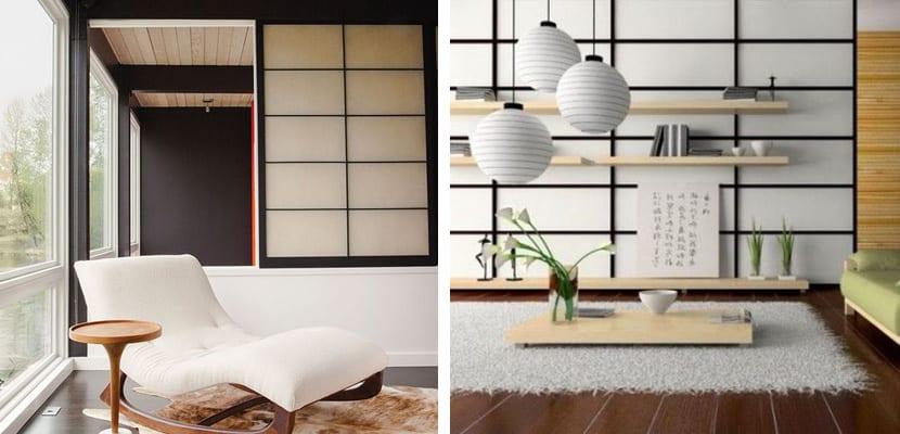 Salones con paneles japoneses
