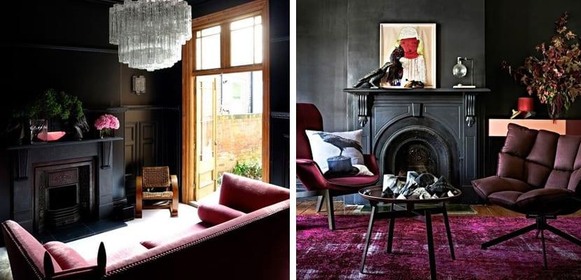 Decorar salones en tonos oscuros - Salones con muebles oscuros ...