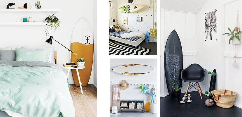 Tabla de surf decorativa