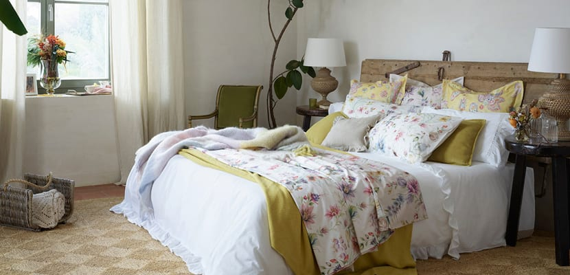 Colecci n botanical de zara home ropa de cama for Decoracion de camas zara home