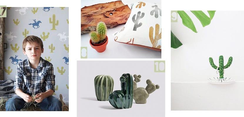 Accesorios decorativos inspirados en los cactus